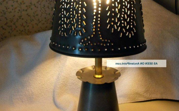 Punched Tin Lamp Shades Table Lamps Large Primitive