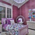 Purple Bubble Chair Playful Decoration Ideas Look Stunning