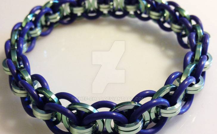 Purple Epdm Seafoam Green Wire Bracelet Chef