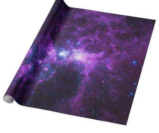 Purple Galaxy Wrapping Paper Zazzle