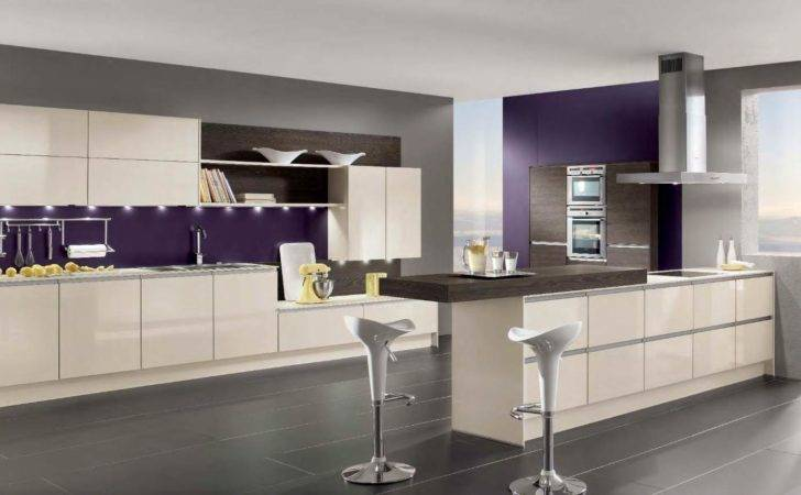 Purple Kitchen Ideas White Cabinet Completed Lightings