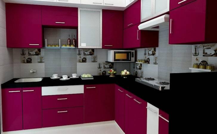 Purple Modular Kitchen