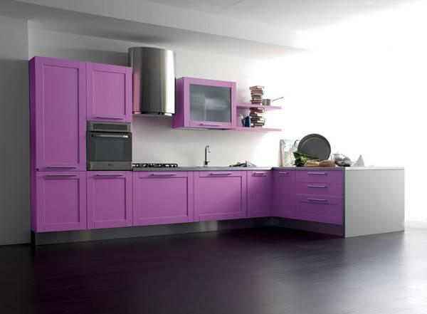 Purple Painted Kitchen Cabinets Cool Cabinet Paint Color