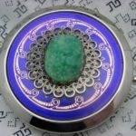 Purple Seafoam Green Deco Comact Mirror Reserved