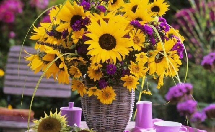 Purple Yellow Flower Arrangement Fav Colors Pinterest