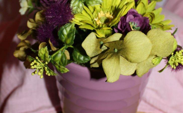 Purple Yellow Flower Pot Arrangement Flowers Gardens Pinterest