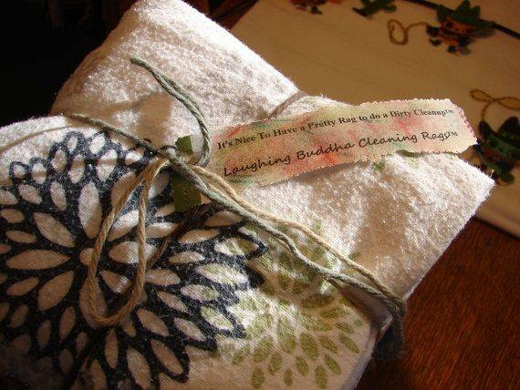 Purposed Cotton Flannel Sheets Cleaning Rags Cloths