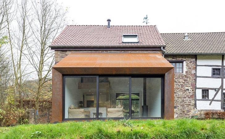 Puzzle Architecture Adds Cortex Steel Extension Barn Belgium