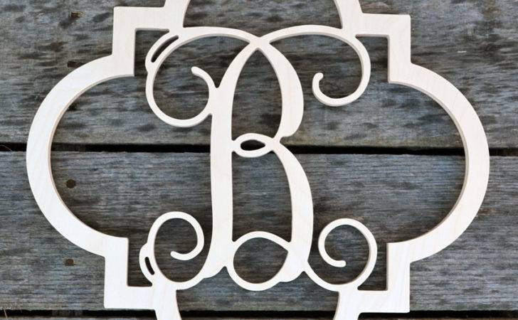 Quatrefoil Monogram Unfinished Wood Letter Wooden Letters