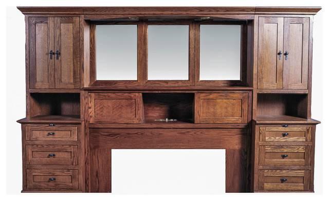 Queen Pier Wall Beveled Mirror Craftsman Bedroom Furniture