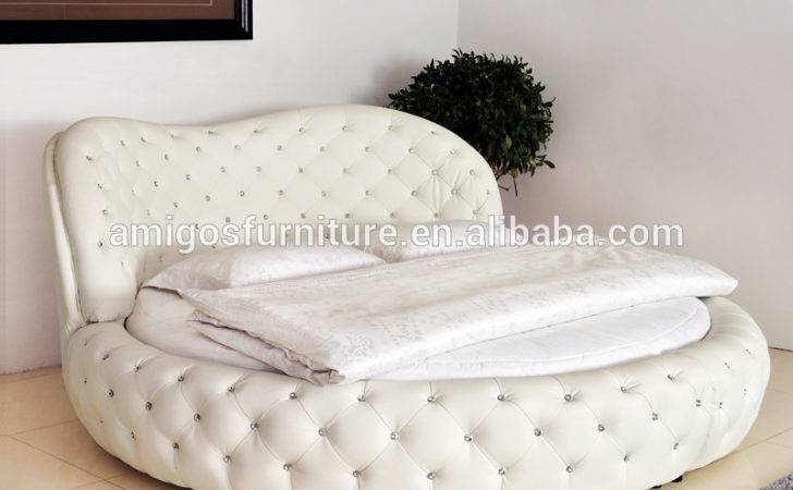 Queen White Purple Round Bed Sale Buy Latest Double