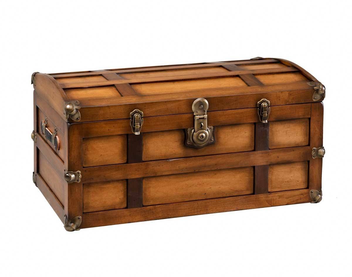 Quick Ship Maple Steamer Trunk