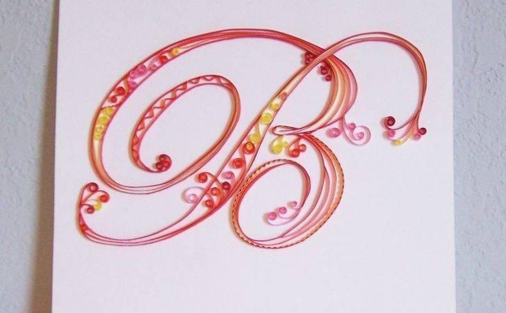 Quilled Monogram Amandarenea Quilling Letters Pintere
