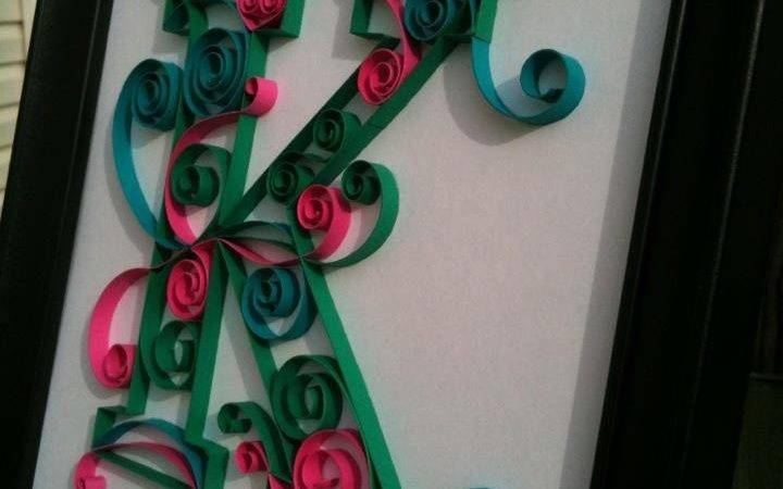 Quilled Monogram Choose Your Own Letter Colors