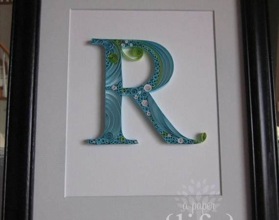 Quilled Monogram Letter Custom Order Apaperlifeoriginals