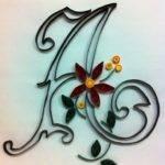 Quilled Monogram Letter Pinterest