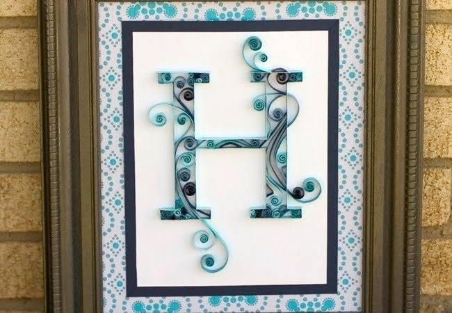 Quilled Monogram Letter