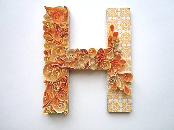 Quilled Monogram Letters Etsy Listing