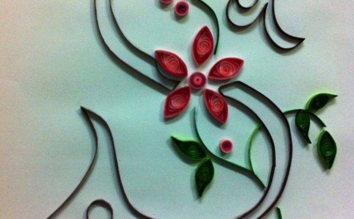 Quilled Monogram Quilling Inspiration Pinterest