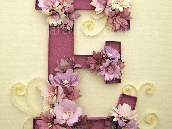 Quilling Monogram Letter Cecelia Louie Via Behance Home Decor
