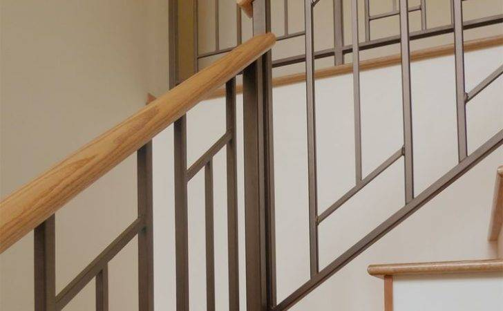 Railing Design Stair Wood Modern Stairs