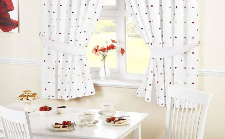 Ready Made Kitchen Window Curtains Pelmets Seat Pads