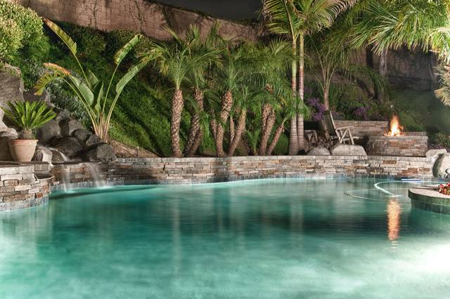 Real Tropical Waterfalls Style Pool