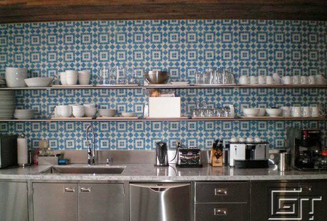 Reasons Choose Cement Tile Your Kitchen Backsplash
