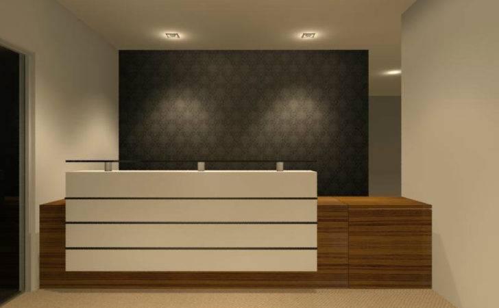 Reception Counter Interior Design Commercial