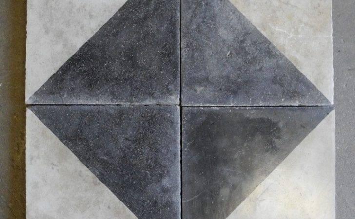 Reclaimed Black White Colored Cement Tile Longer