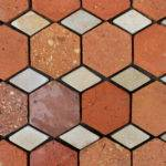 Reclaimed French Terracotta Tiles Hexagonal Oak Flooring