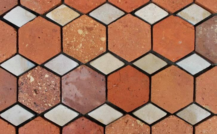 Reclaimed French Terracotta Tiles Hexagonal Oak Flooring