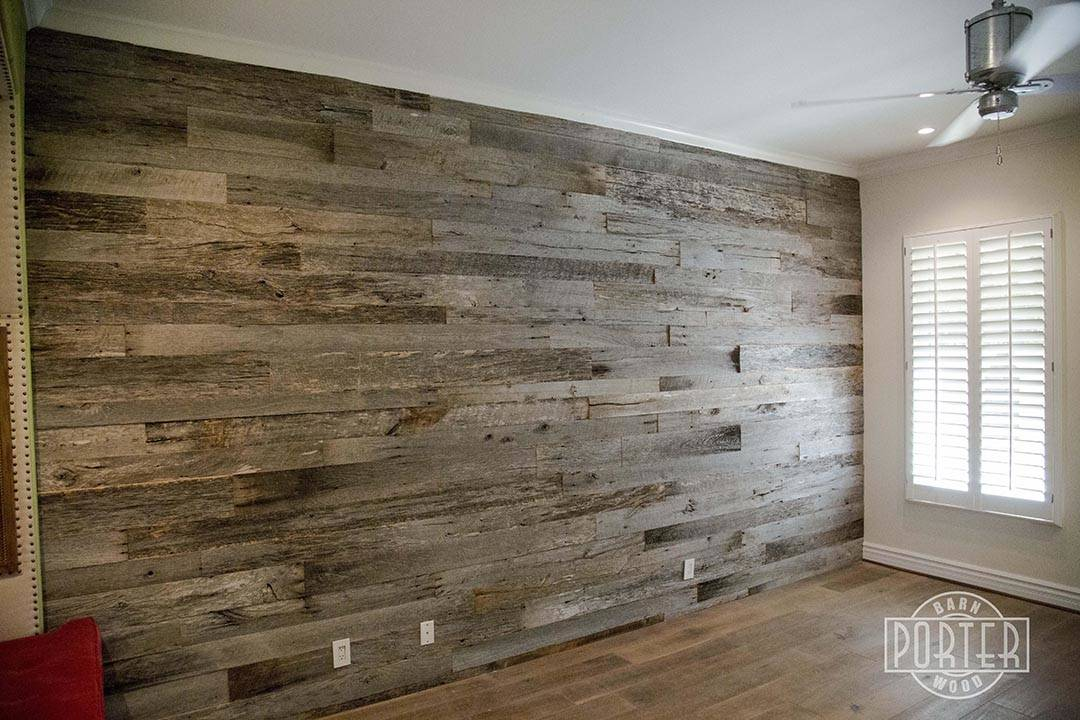 Reclaimed Tobacco Barn Grey Wall Covering Paradise Valley