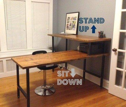 Reclaimed Wood Outdoor Furniture Shaped Office Desk