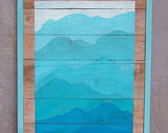 Reclaimed Wood Pallet Turquoise Mountain Rustic Originals