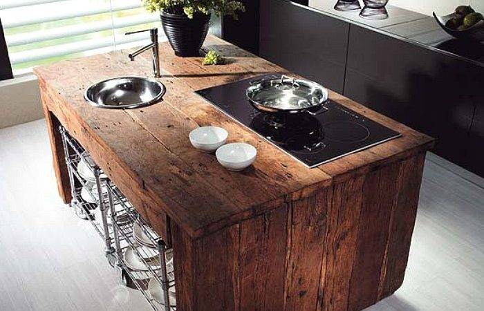 Reclaimed Wood Rustic Countertop Ideas Decoholic