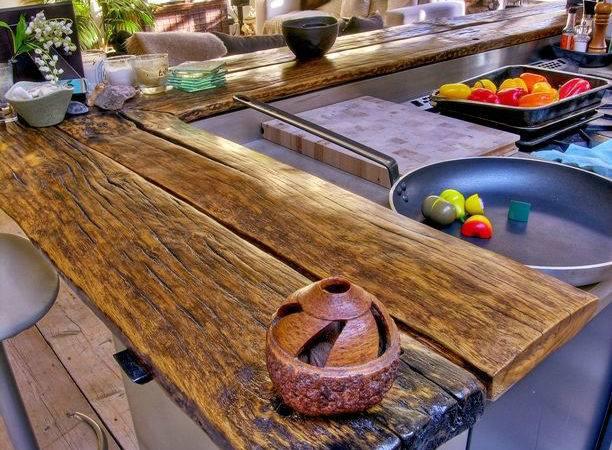 Reclaimed Wood Rustic Countertop Ideas Interior Design