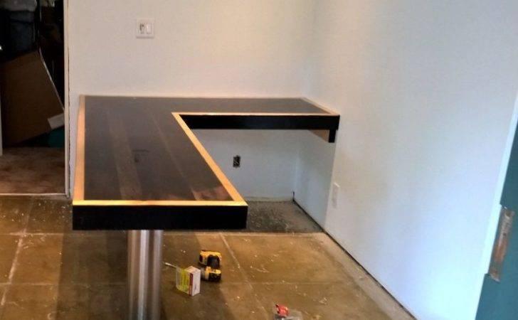 Reclaimed Wood Shaped Desk