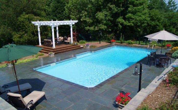 Rectangle Backyard Pools Pool Patio