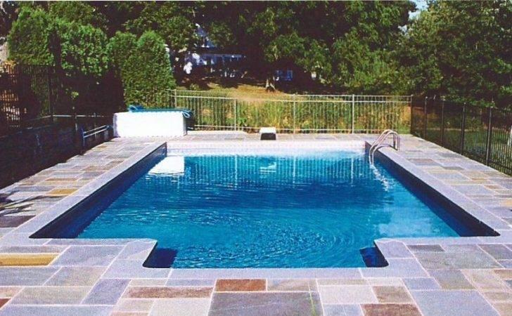 Rectangle Inground Swimming Pool Designs Chaffee Pools
