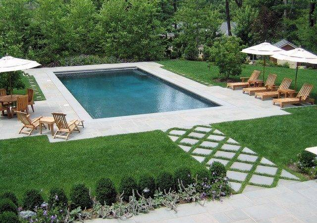 Rectangle Pool Landscaping Ideas