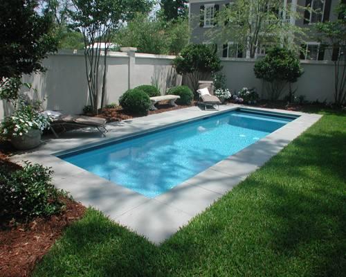 Rectangle Pool Pinterest Rectangular Concrete Deck