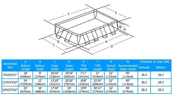 Rectangular Intex Ultra Frame Aboveground Swimming Pool Ebay