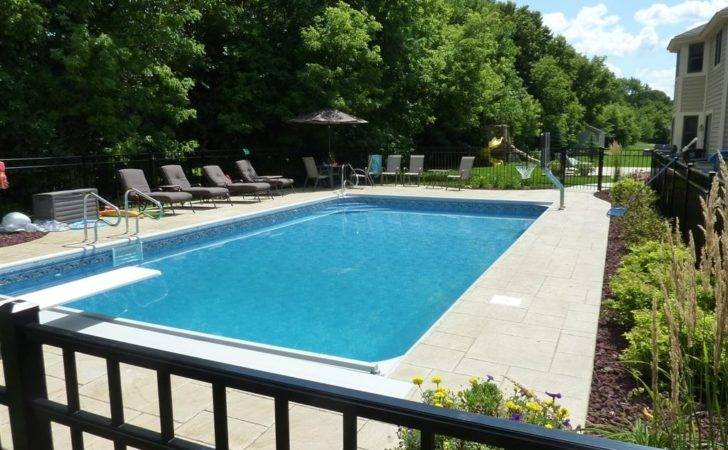 Rectangular Pool Designs Clean Lined Swimming