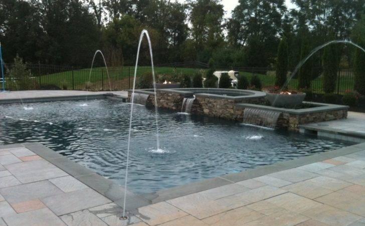 Rectangular Pool Designs Custom Rectangle Landscape Design