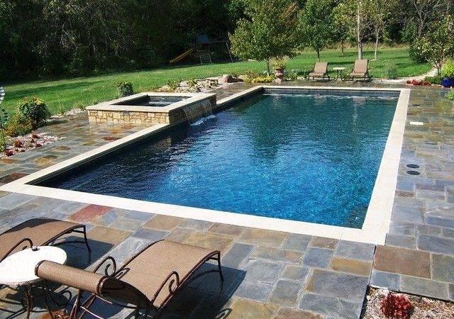 Rectangular Pool Hot Tub Rectangle Inground Pools