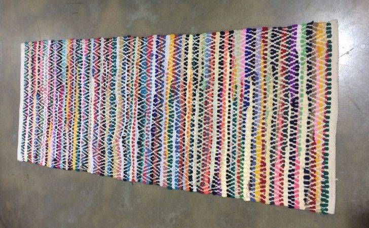 Recycled Cotton Multi Rag Rug Runner Delivery Ebay