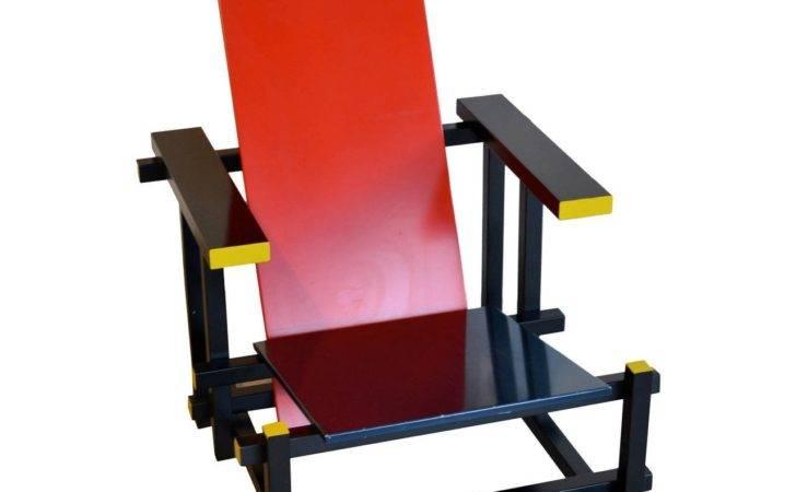 Red Blue Armchair Gerrit Rietveld Sale Stdibs