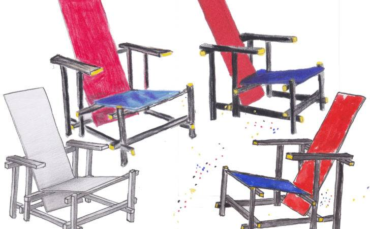 Red Blue Chair Gerrit Rietveld Uncg Iarc Chaircards