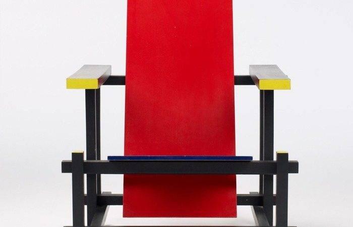 Red Blue Chair Rietveld Since Pinterest